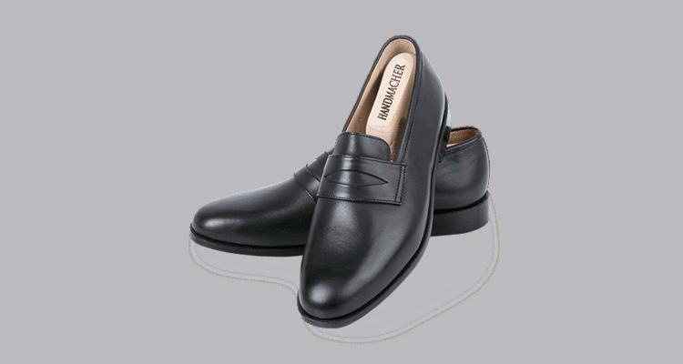 Modell 99 Slipper Kalbleder schwarz